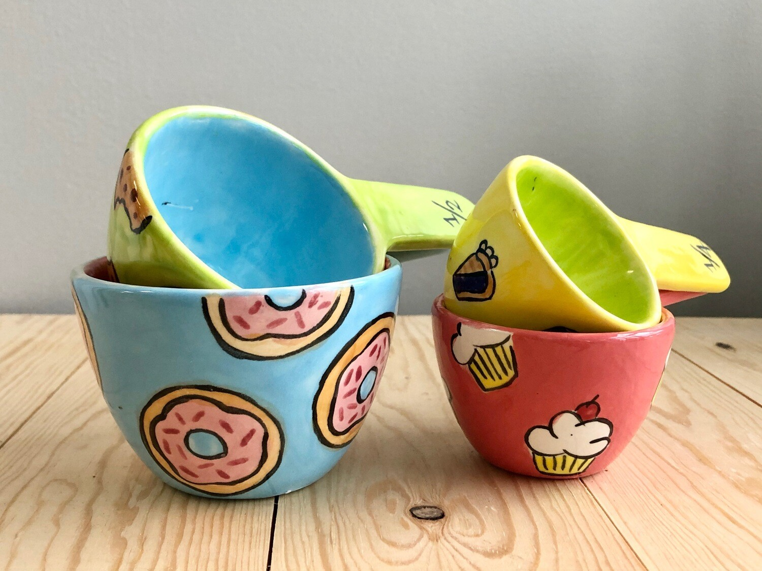 Take Home Measuring Cup Set with Glazes - Pick up Curbside