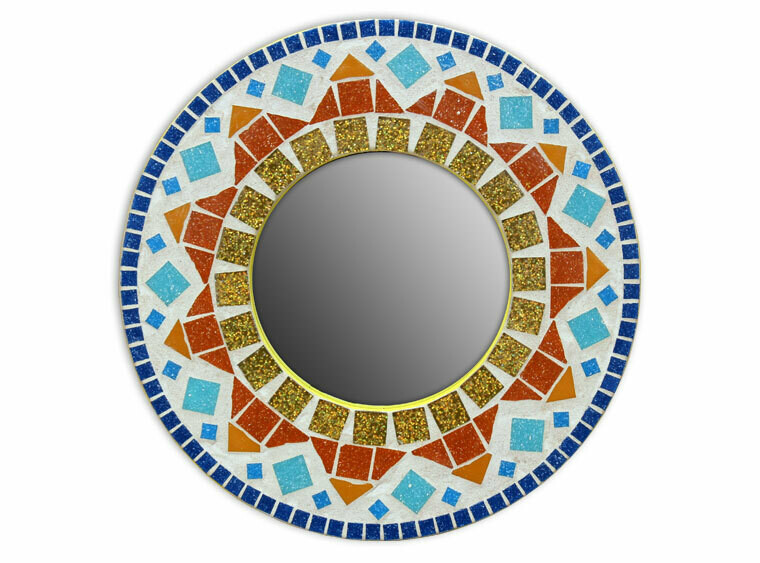 "Take Home 12"" Sunburst Mosaic Mirror Kit - Pick up Curbside"