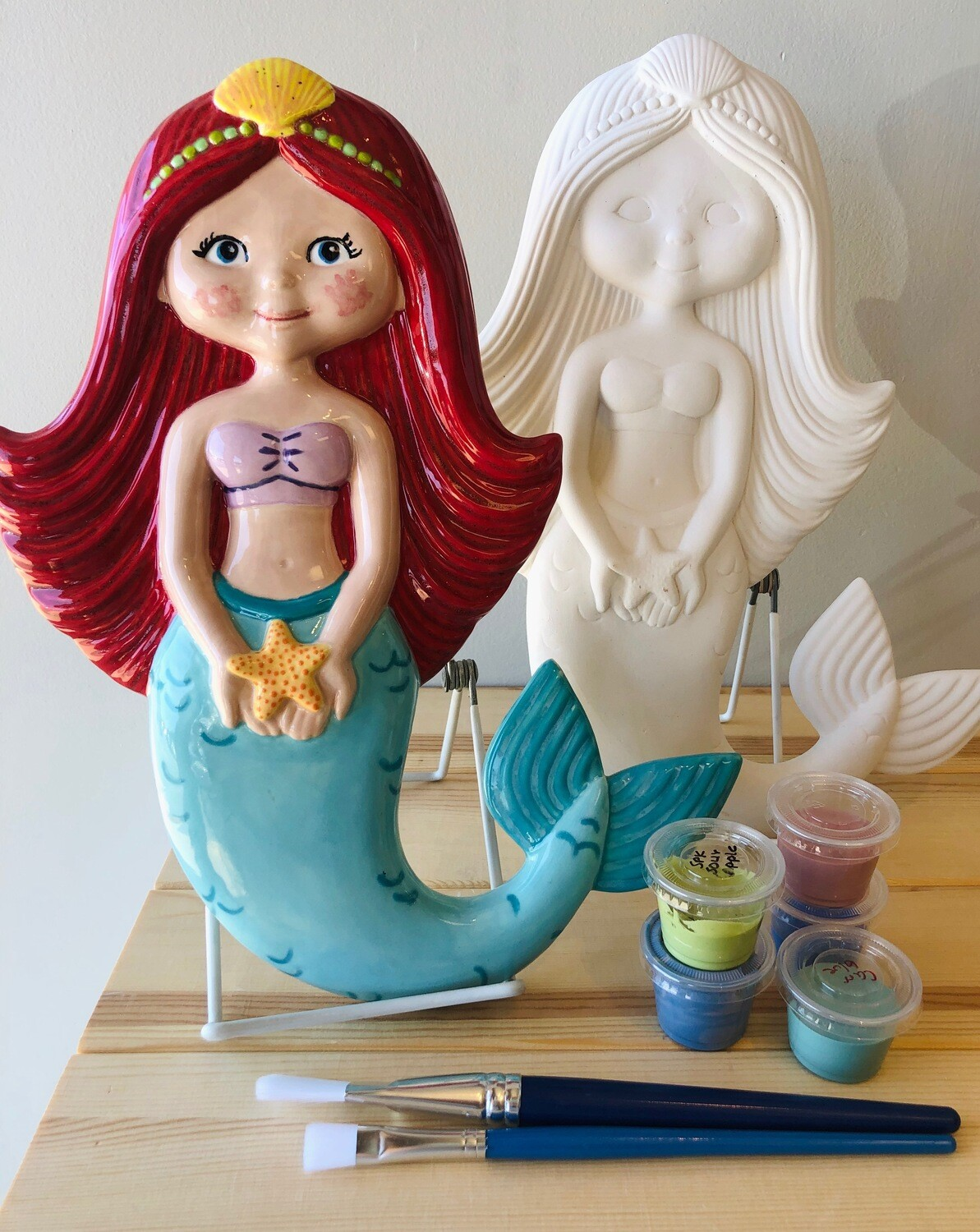 "Camp in a Bag! 12"" Mermaid Plaque - Pick up Curbside"