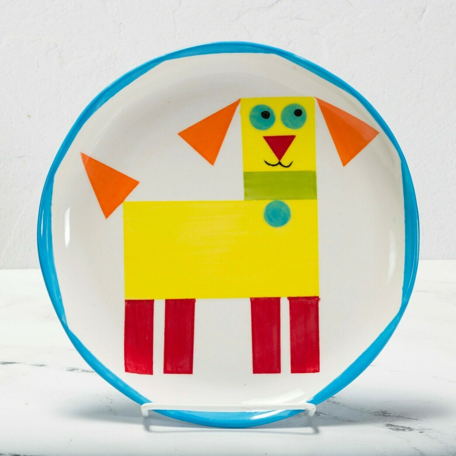 Camp in a Bag! Geometric Dog Plate - Pick up Curbside