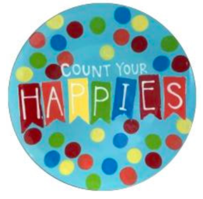 Camp in a Bag! Count Your Happies Coupe Dinner Plate - Pick up Curbside