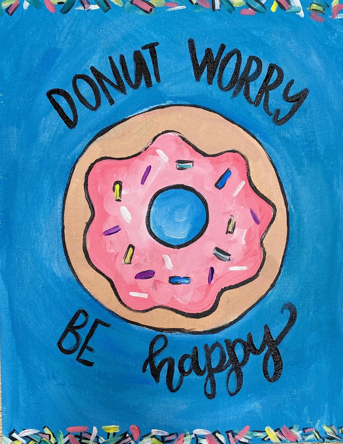 Camp in a Bag! Donut Worry Be Happy Canvas  - Pick up Curbside