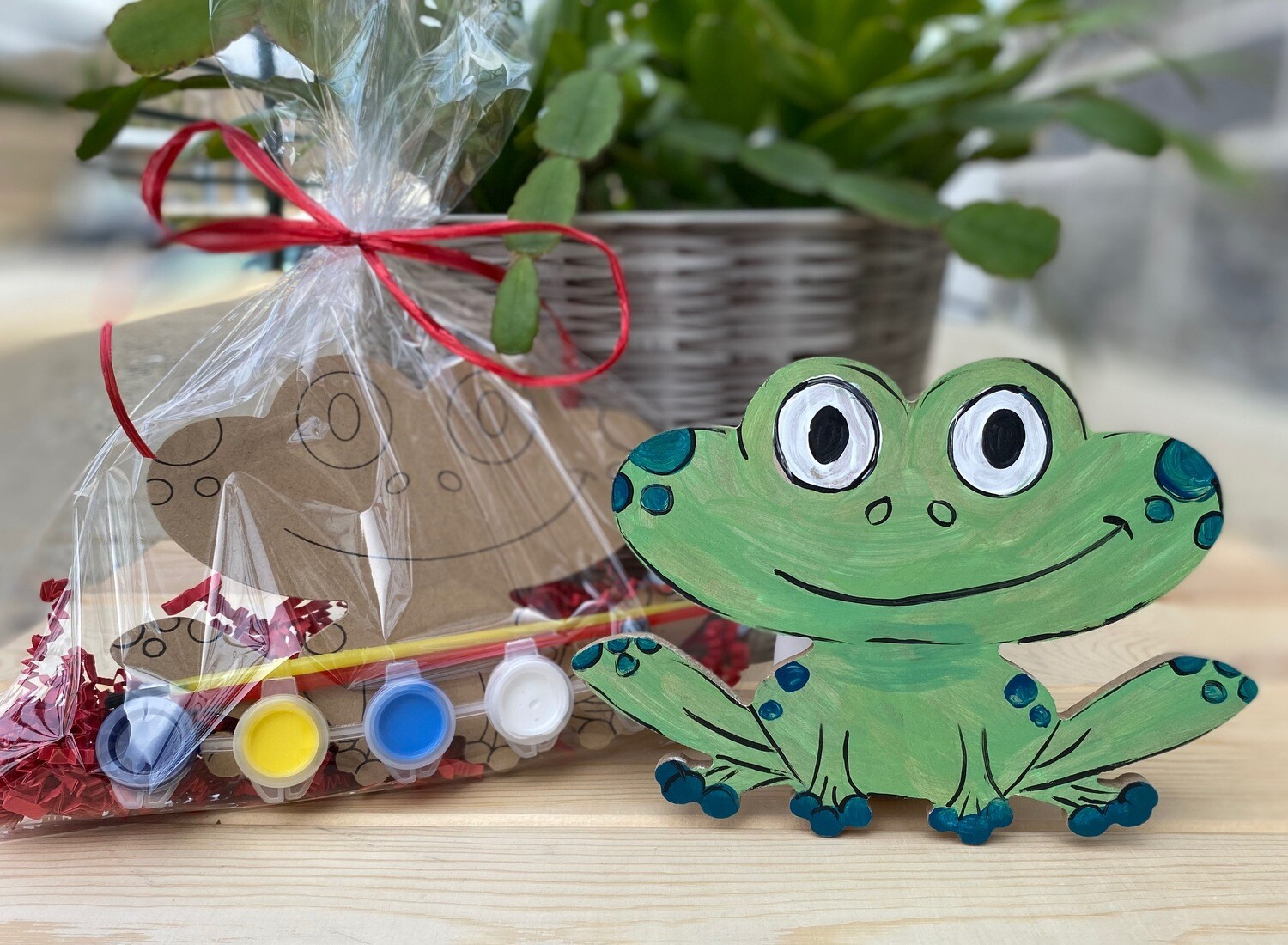 Camp in a Bag! Wooden Frog  - Pick up Curbside