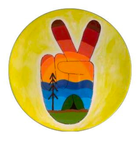 Camp in a Bag! Adventure Awaits Peace Coupe Dinner Plate - Pick up Curbside