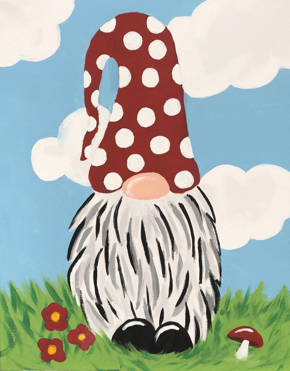Camp in a Bag! Spring Gnome Canvas  - Pick up Curbside