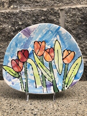 Camp in a Bag!  Tulip Paper Masking Plate - Pick up Curbside