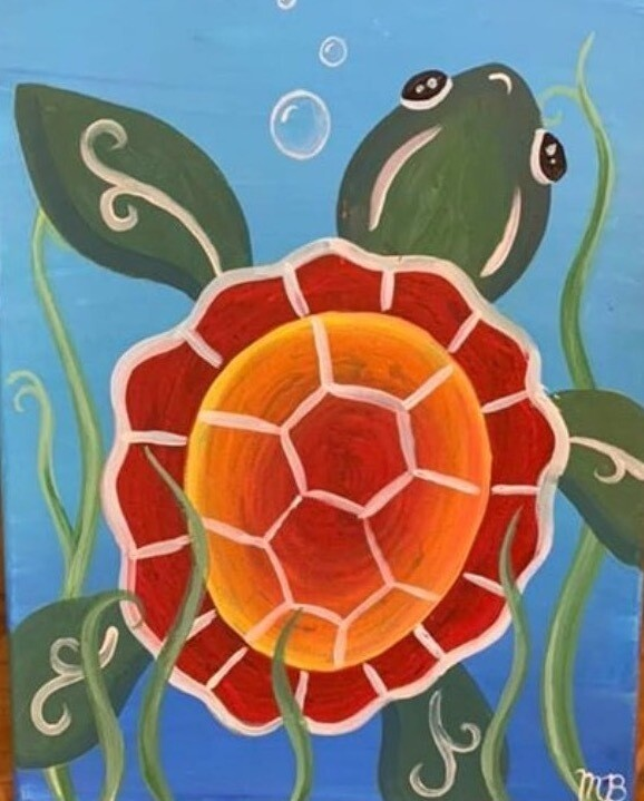 Camp in a Bag! Sea Turtle Canvas  - Pick up Curbside