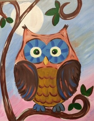 Camp in a Bag! Cute Owl Canvas  - Pick up Curbside