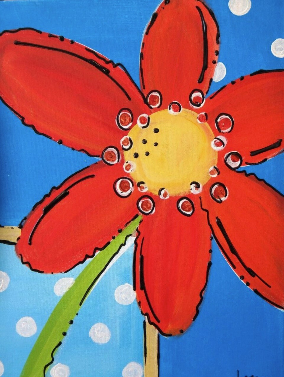 Camp in a Bag! Red Flower Canvas  - Pick up Curbside