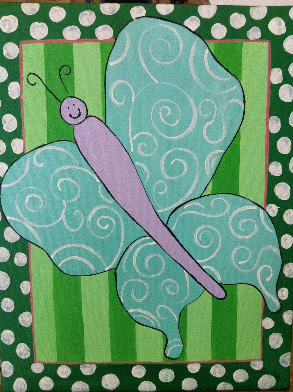 Camp in a Bag! Butterfly Canvas  - Pick up Curbside