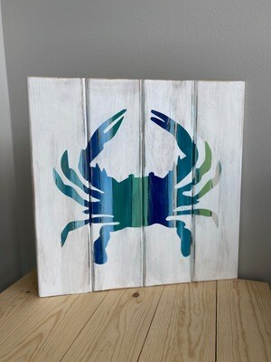 """Take Home 14"""" Beach Crab Pallet Board with Instructions  - Pick up Curbside"""