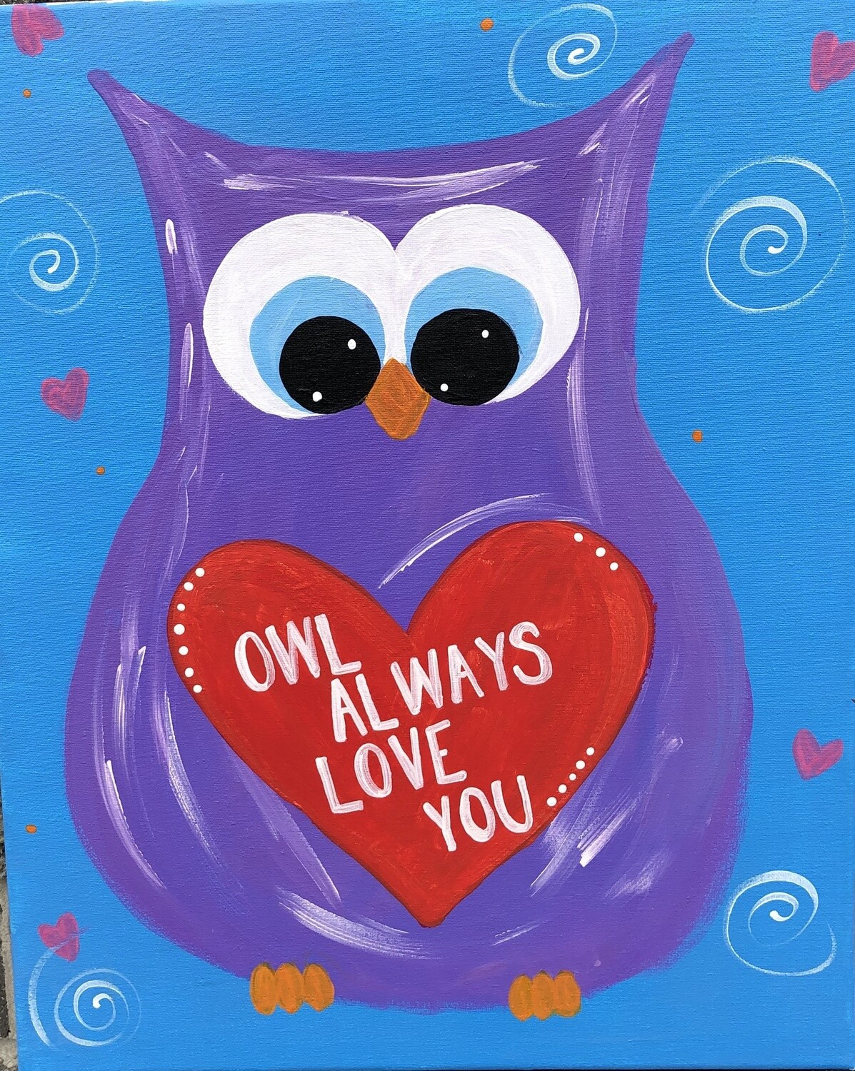 Camp in a Bag!  Owl Always Love You Canvas  - Pick up Curbside