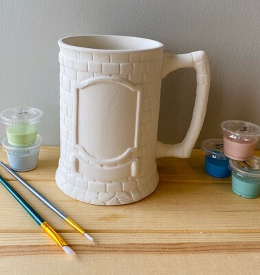 Take Home Crested Beer Stein with Glazes - Pick up Curbside