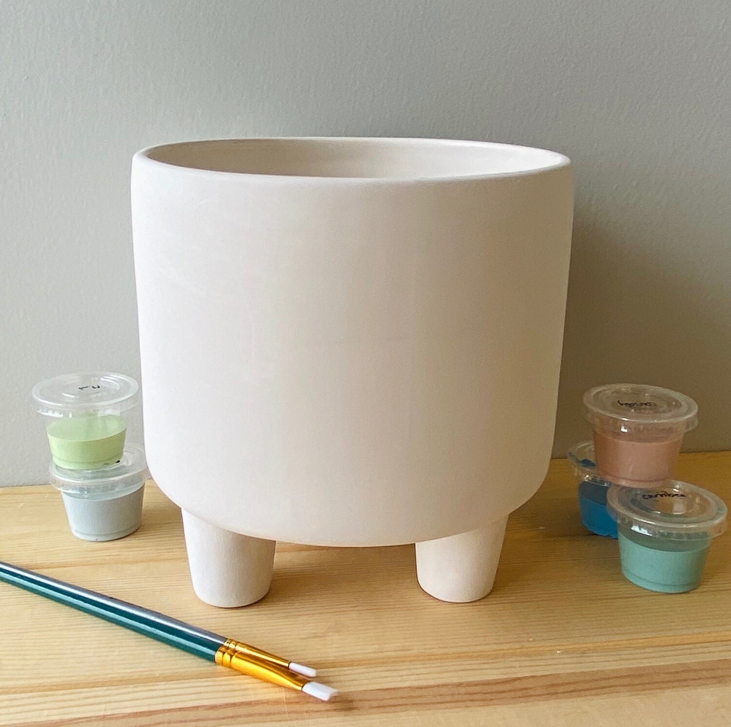 Take Home Footed Planter with Glazes - Pick up Curbside