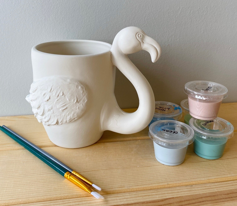 Take Home Flamingo Mug with Glazes - Pick up Curbside