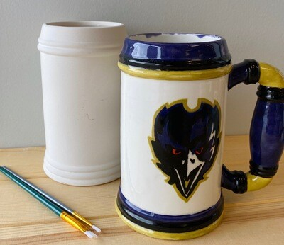 Take Home Beer Stein with Glazes - Pick up Curbside