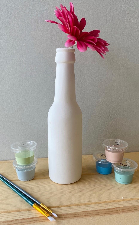 Take Home Beer Bottle Bud Vase with Glazes - Pick up Curbside
