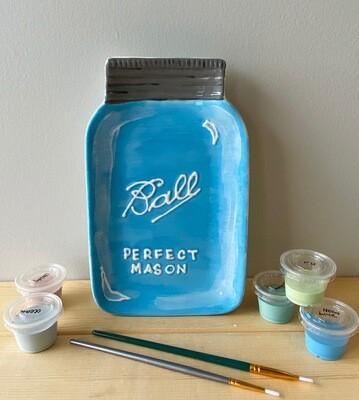 Take Home Mason Jar Dish with glazes - Pick up Curbside