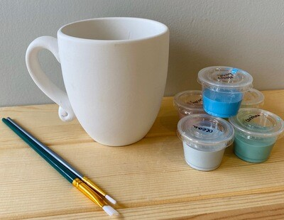 Take Home Contemporary Mug with Glazes - Pick up Curbside