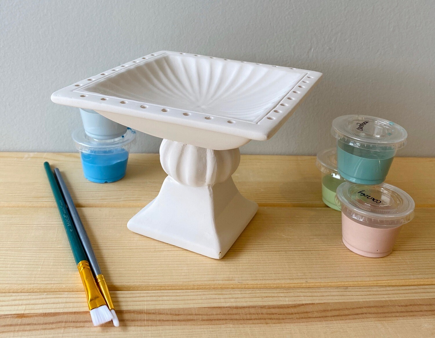 Take Home Decorative Jewelry Holder with Glazes - Pick up Curbside