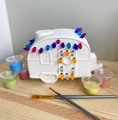 Take Home Light Up Christmas Camper with Glazes - Pick up Curbside
