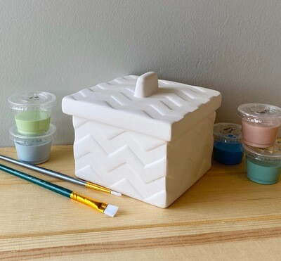 Take Home Chevron Box with Glazes - Pick up Curbside