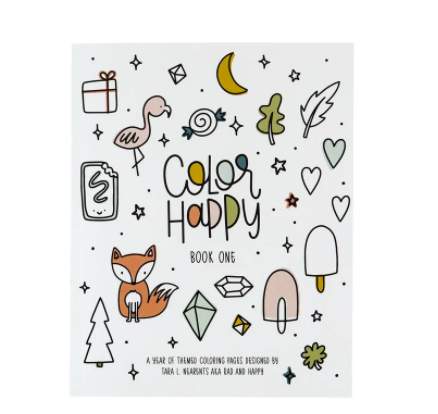 Rad + Happy Color Happy Coloring Book