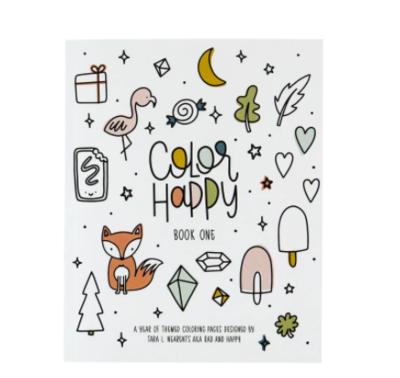 Rad + Happy Color Happy Coloring Book