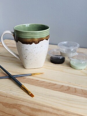 Take Home Contemporary Stoneware Mug- Pick up Curbside