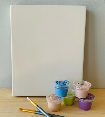 Take Home Clay Canvas with glazes  - Pick up Curbside