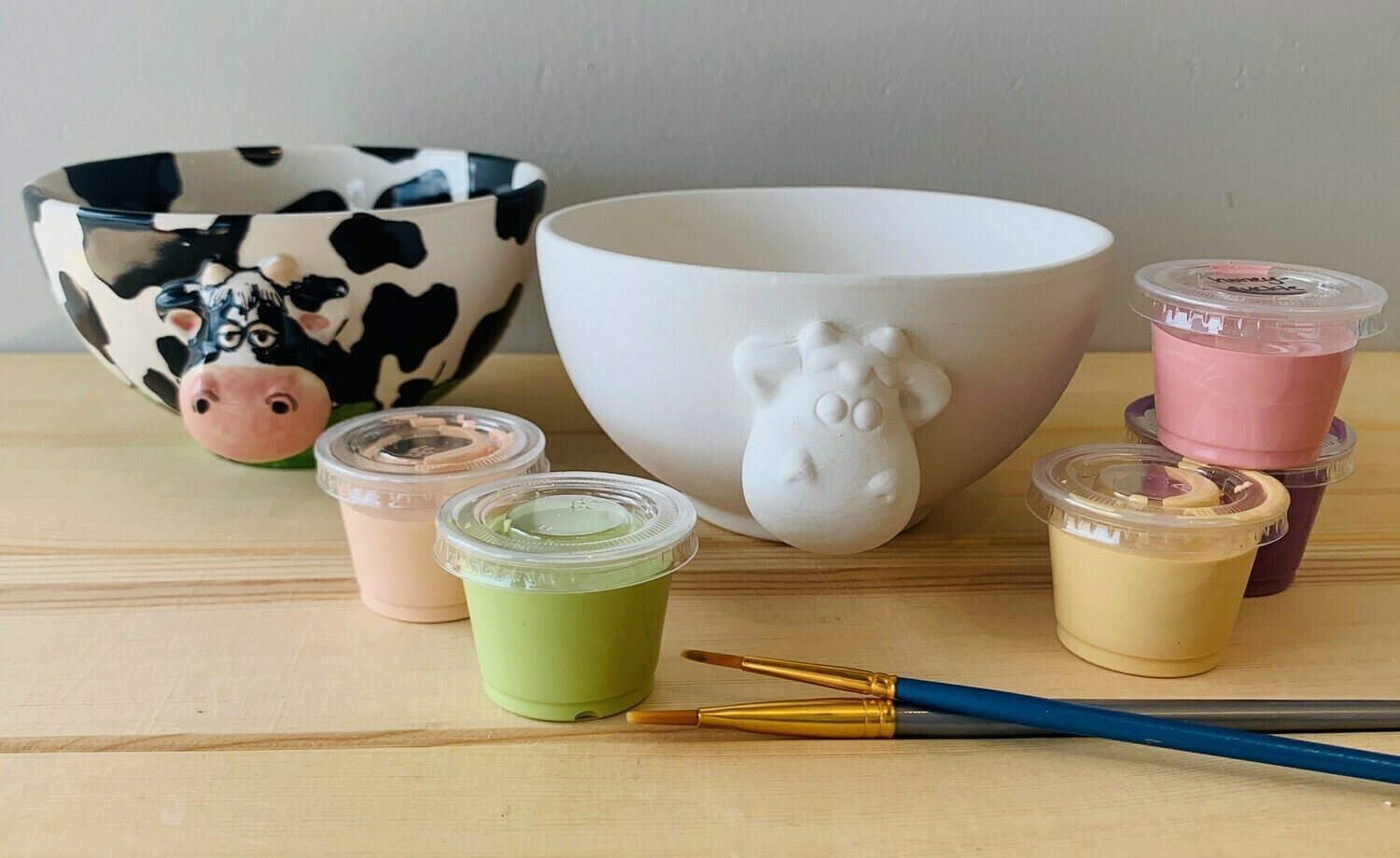 Take Home Cow Bowl with glazes - Pick up Curbside