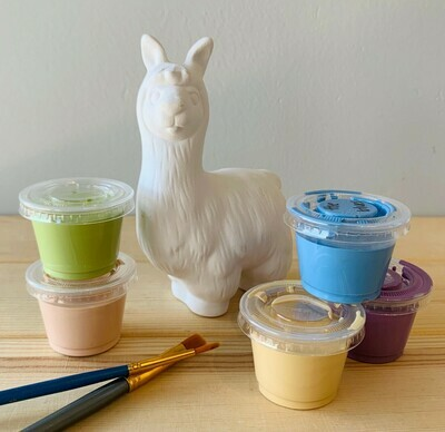 Take Home Llama Party Animal with glazes  - Pick up Curbside