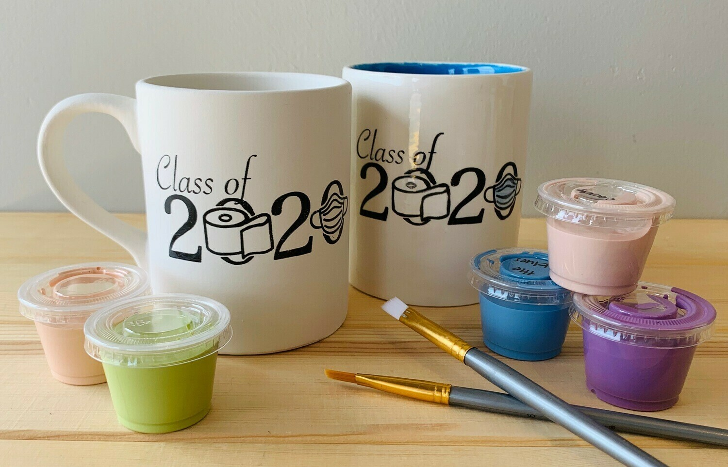 Take Home Coloring Book 12 oz Class of 2020 Mug with Glazes - Pick up Curbside