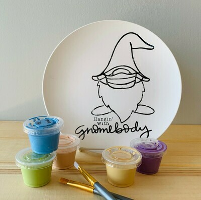 Take Home Coloring Book Hanging with Gnomebody Plate with Glazes - Pick up Curbside