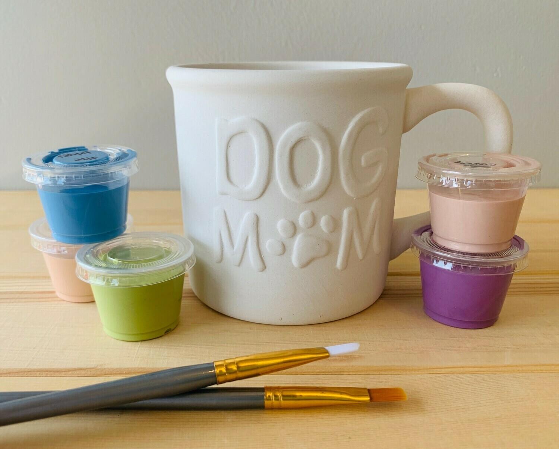 Take Home Dog Mom Mug with Glazes - Pick up Curbside