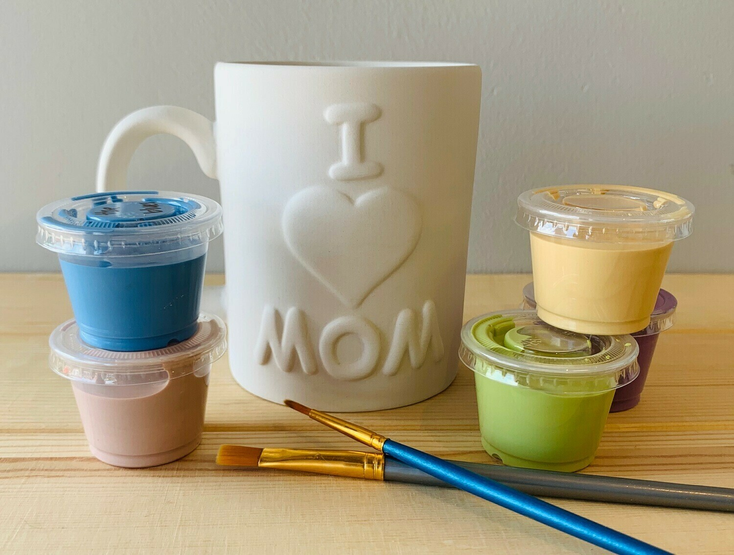 Take Home I Love Mom Mug with glazes - Pick up Curbside