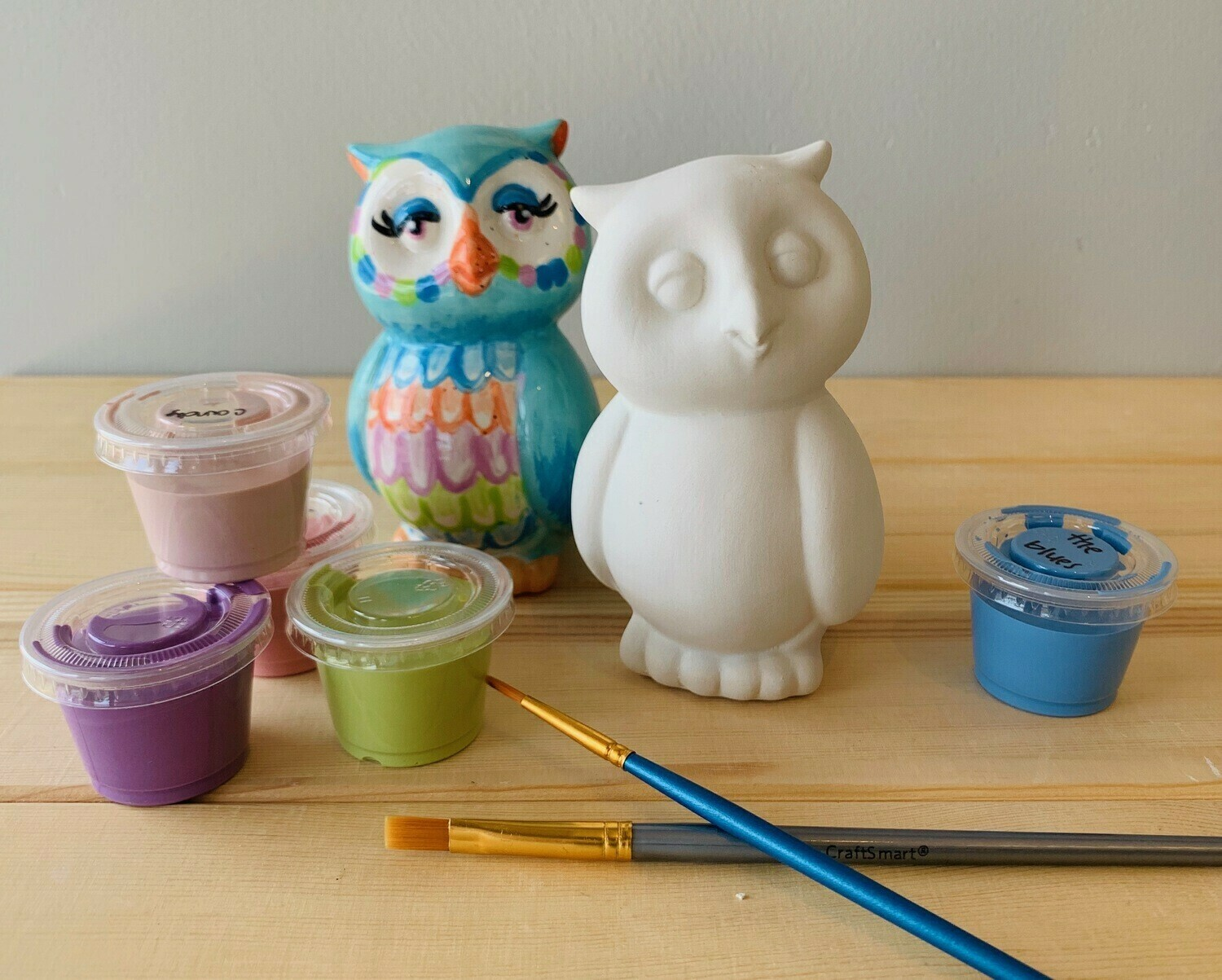Take Home Owl Party Animal with glazes - Pick up Curbside
