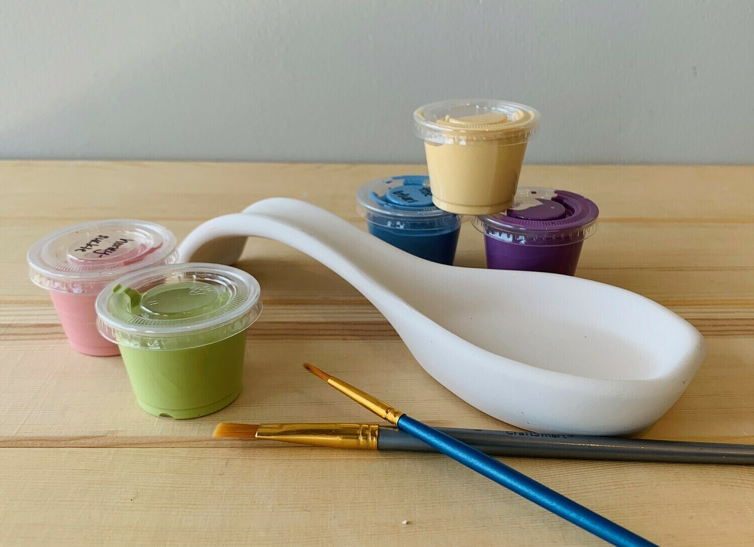Take Home Small Spoon Rest with glazes  - Pick up Curbside