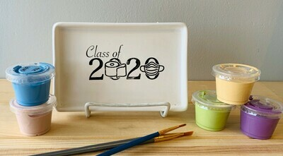 Take Home Coloring Book Class of 2020 TP Tray with Glazes - Pick up Curbside