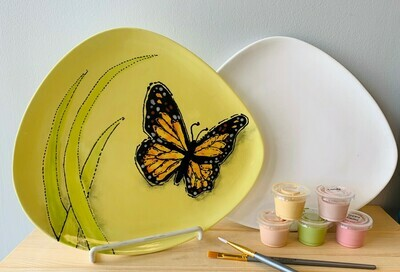 Take Home Organic Dinner Plate with glazes - Pick up Curbside