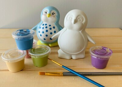 Take Home Penguin Party Animal with glazes  - Pick up Curbside