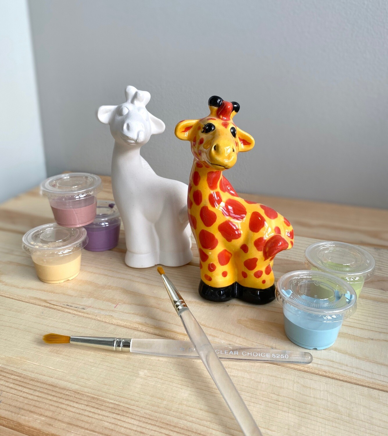 Take Home Giraffe Party Animal with glazes  - Pick up Curbside