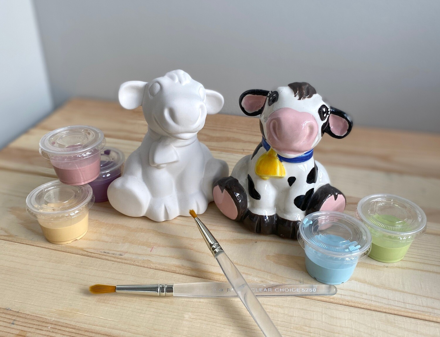 Take Home Cow Party Animal with glazes  - Pick up Curbside