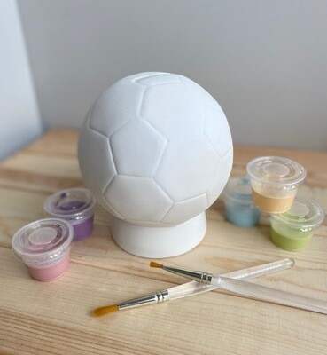 Take Home Soccer Ball Bank with Glazes - Pick up Curbside
