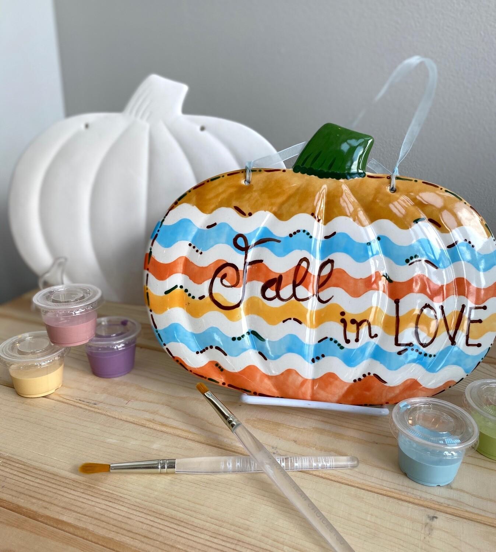 Take Home Pumpkin / Snowman Plaque  - Pick up Curbside