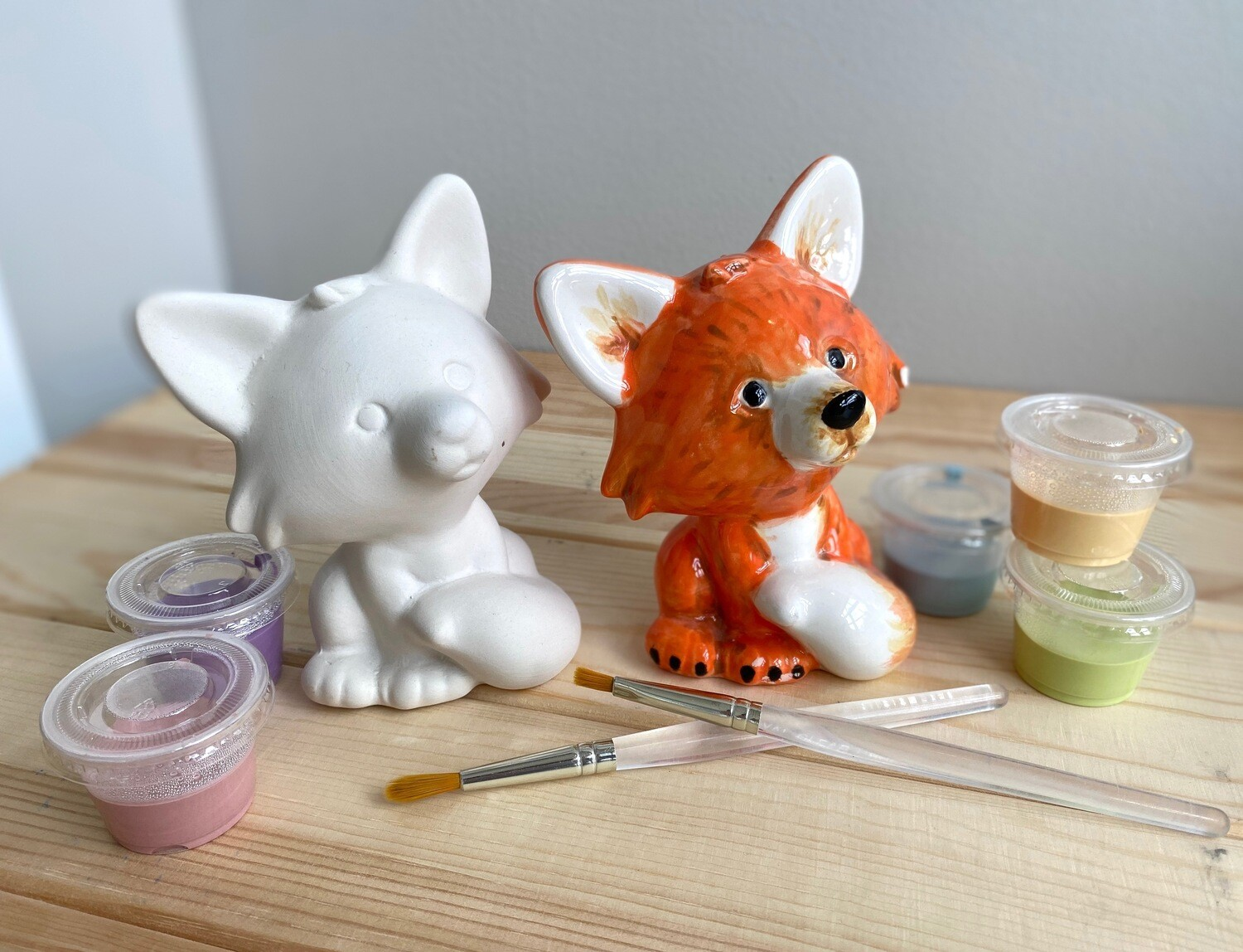 Take Home Fox Party Animal with glazes  - Pick up Curbside