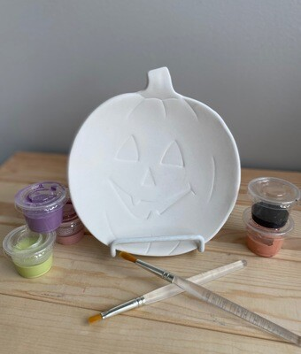 Take Home Jackolantern Dish with Glazes - Pick up Curbside