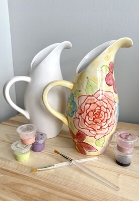 Take Home Naples pitcher with Glazes- Pick Up Curbside