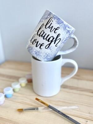 Take Home 16oz Coffee Mug with Glazes - Pick up Curbside