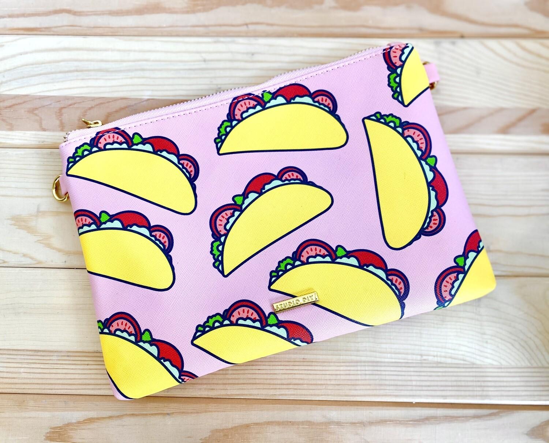 Rad + Happy Taco Clutch